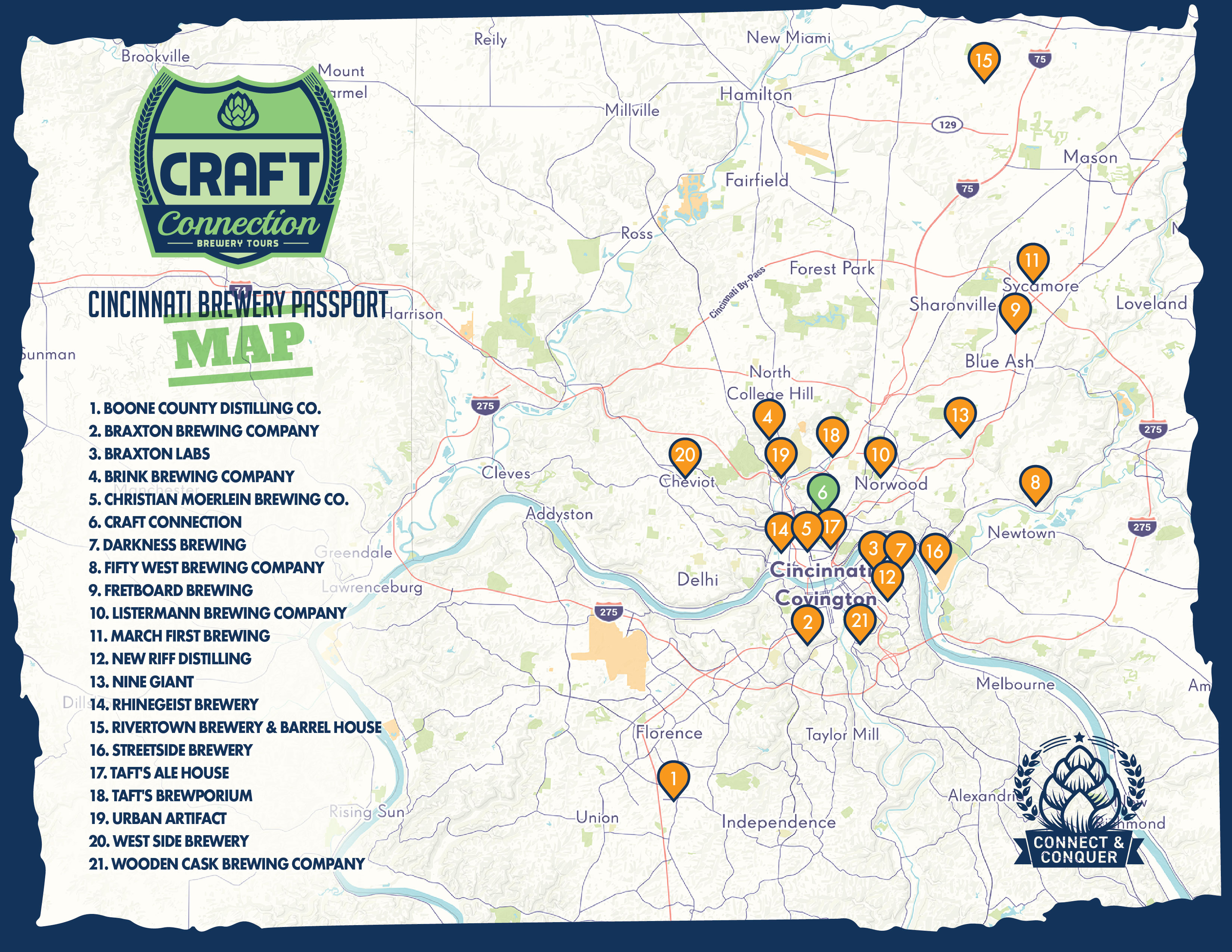 The Cincinnati Brewery Passport Craft Connection Brewery Tours